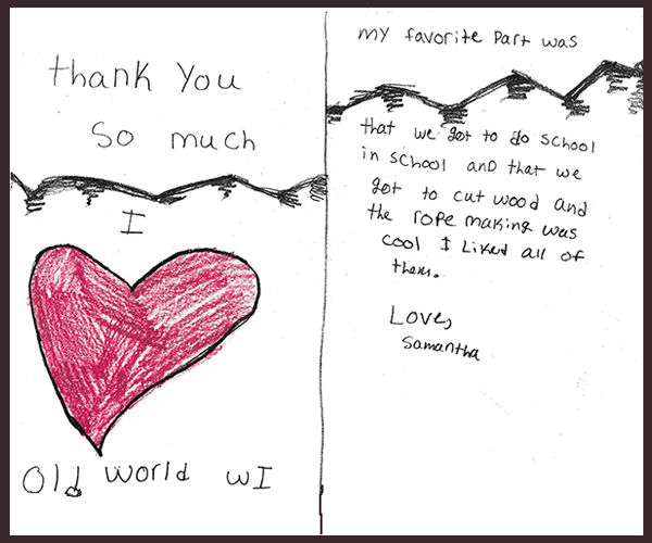 Children's Thank You Letter to OWW
